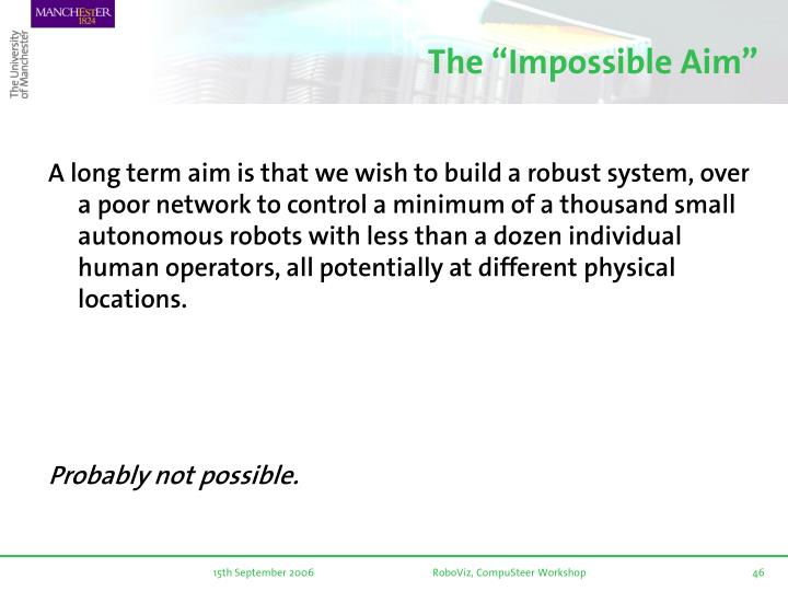 "The ""Impossible Aim"""
