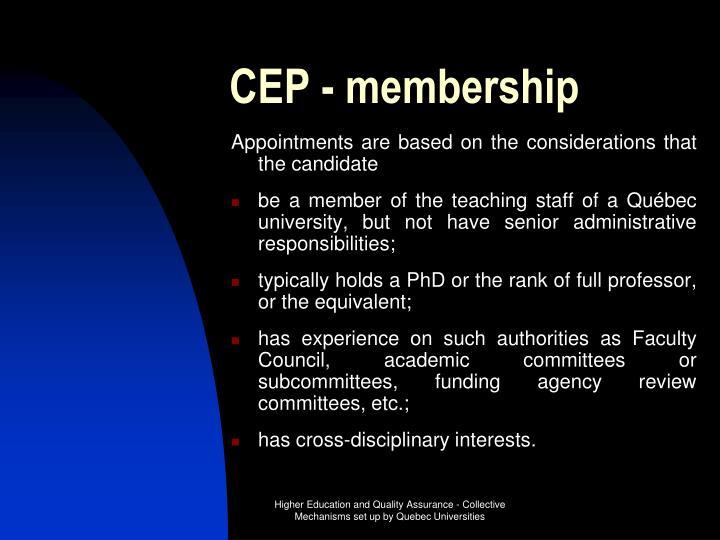 CEP - membership