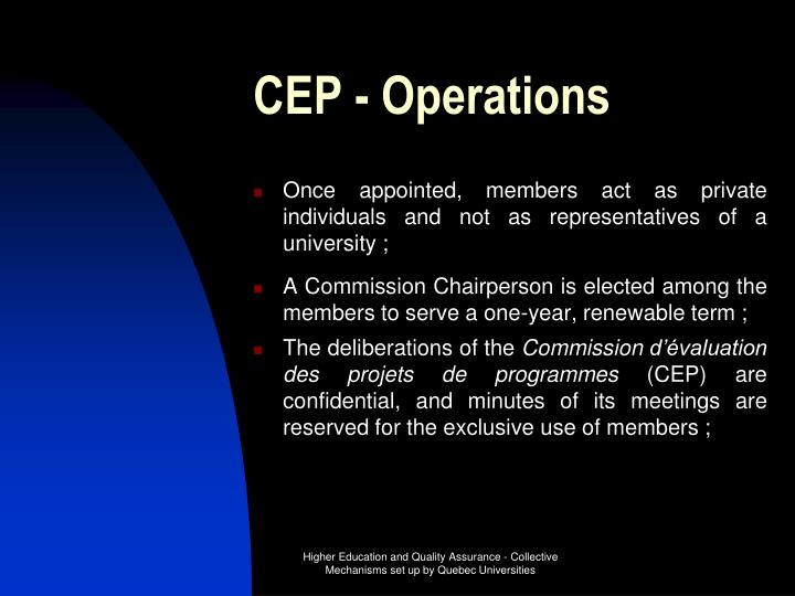 CEP - Operations