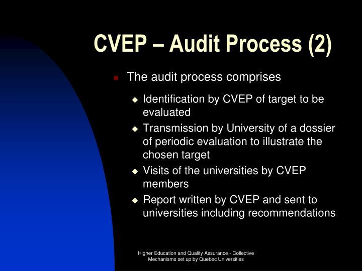 CVEP – Audit Process (2)