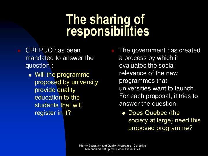 CREPUQ has been mandated to answer the question :