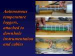 autonomous temperature loggers attached to downhole instrumentation and cables