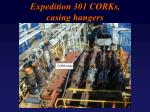 expedition 301 corks casing hangers