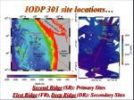iodp 301 site locations