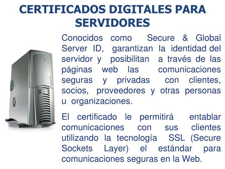 Certificados Digitales para