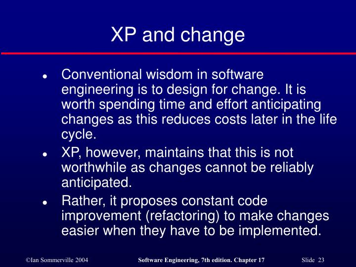 XP and change