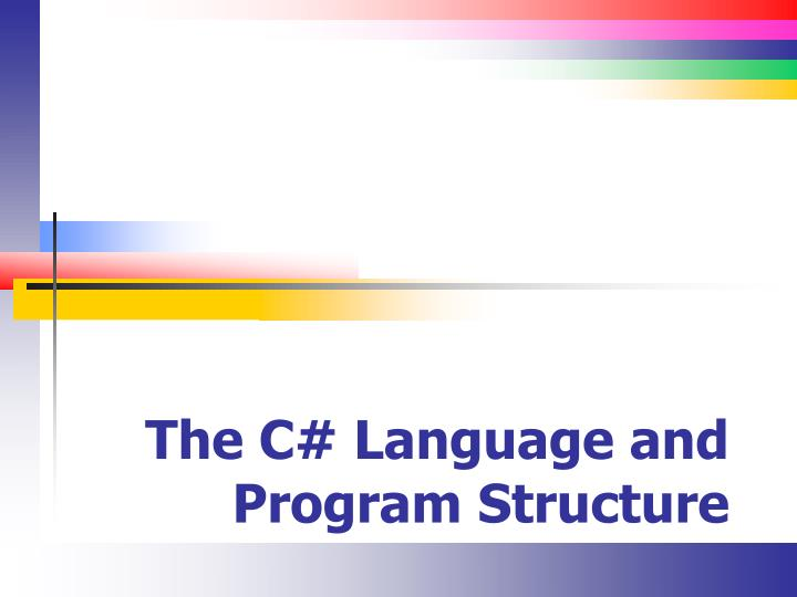 the c language and program structure n.