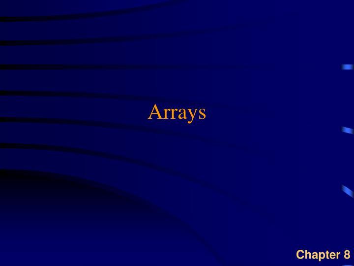 arrays n.
