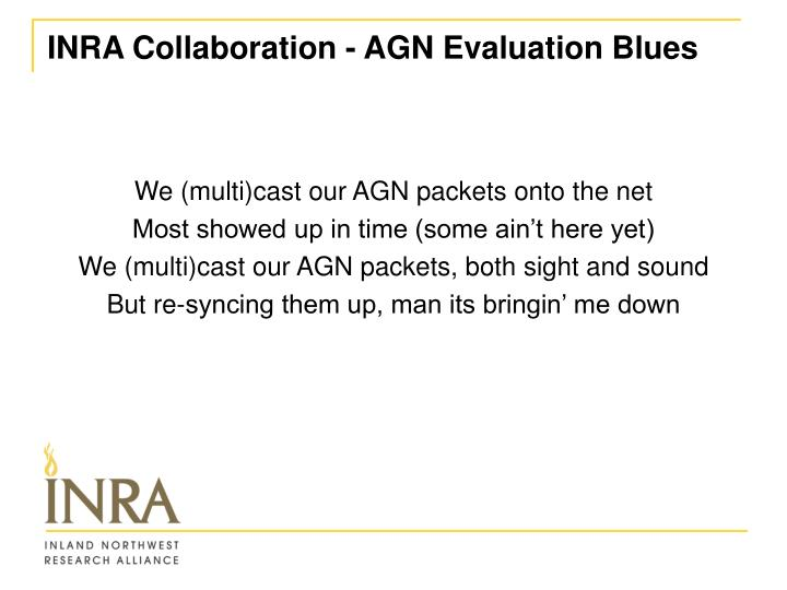 INRA Collaboration - AGN Evaluation Blues