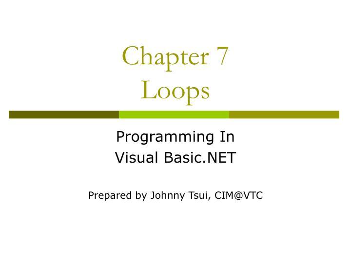 chapter 7 loops n.