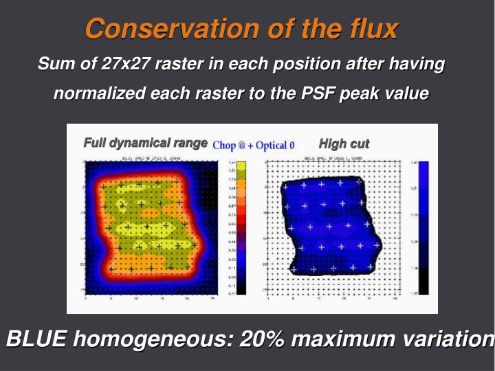 Conservation of the flux