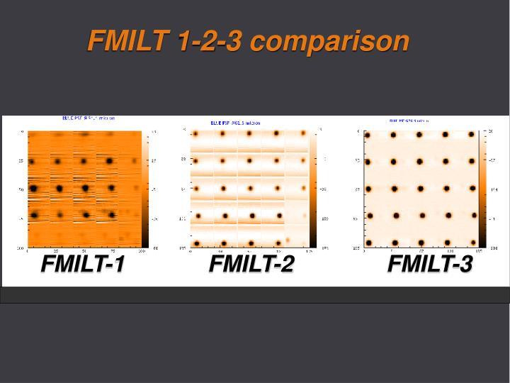 FMILT 1-2-3 comparison