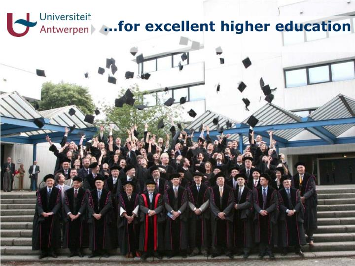 …for excellent higher education
