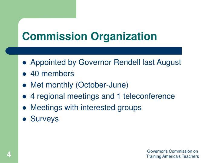 Commission Organization