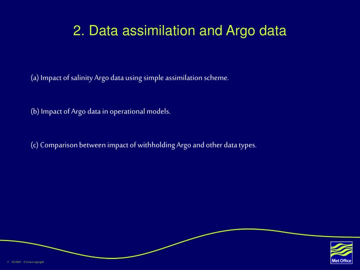 2. Data assimilation and Argo data