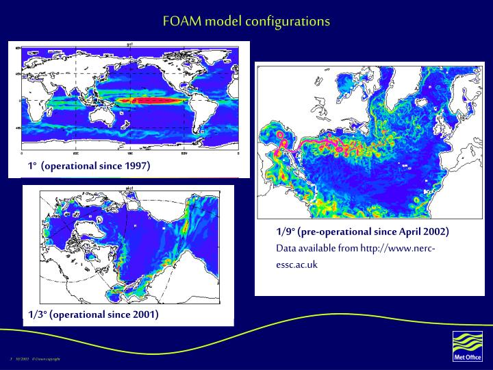 Foam model configurations
