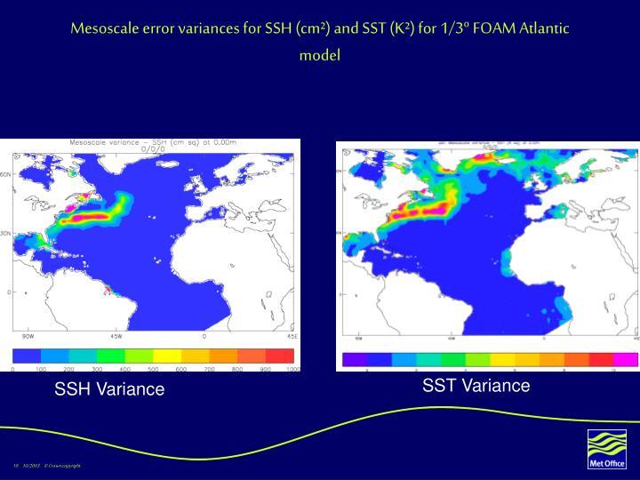 Mesoscale error variances for SSH (cm