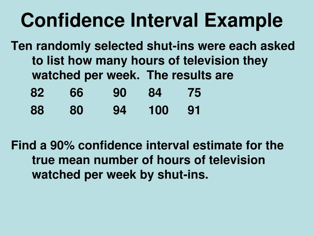 PPT - Confidence Intervals with Means PowerPoint