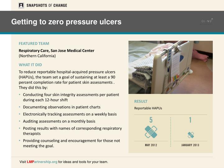 Getting to zero pressure ulcers