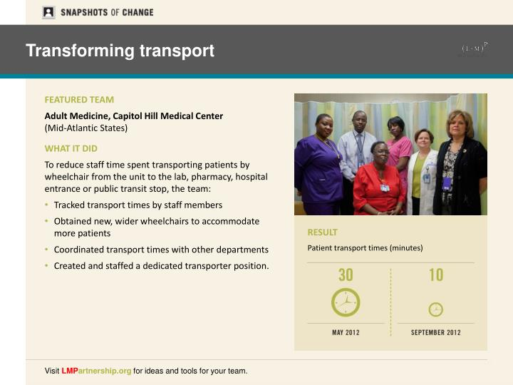 Transforming transport