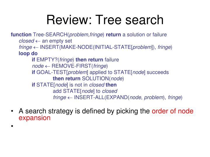 Review tree search