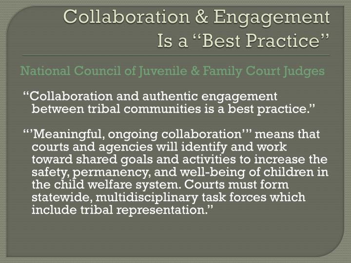 Collaboration & Engagement