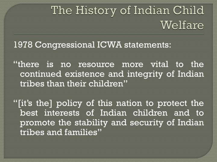 The History of Indian Child Welfare