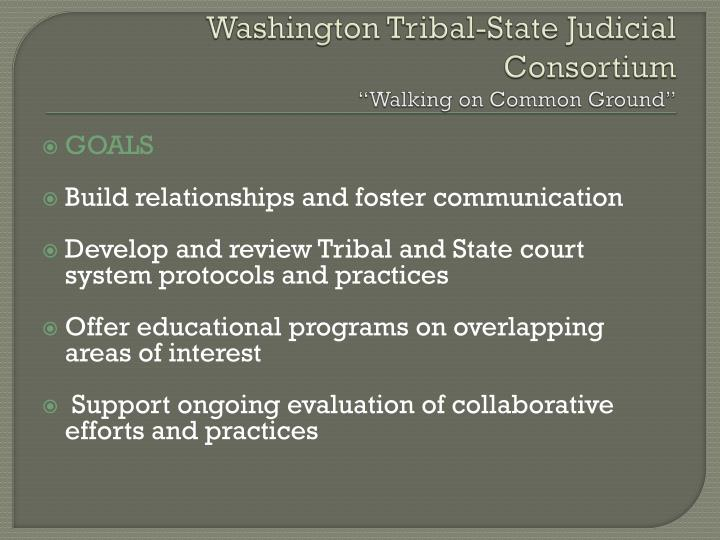 Washington Tribal-State Judicial Consortium
