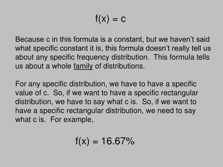 f(x) = c