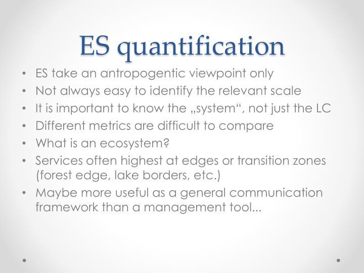 Es quantification