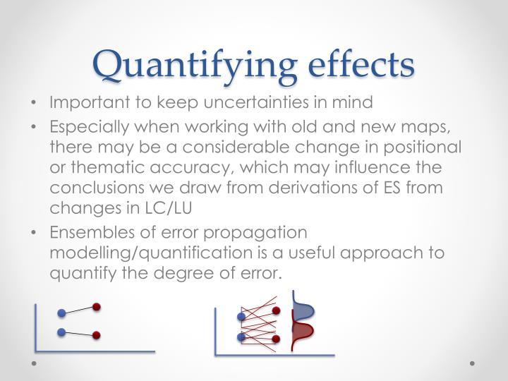 Quantifying effects