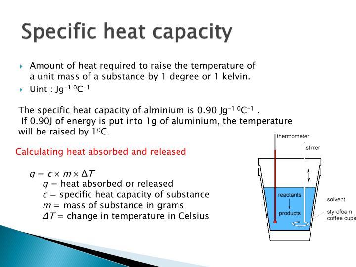 Specific heat capacity