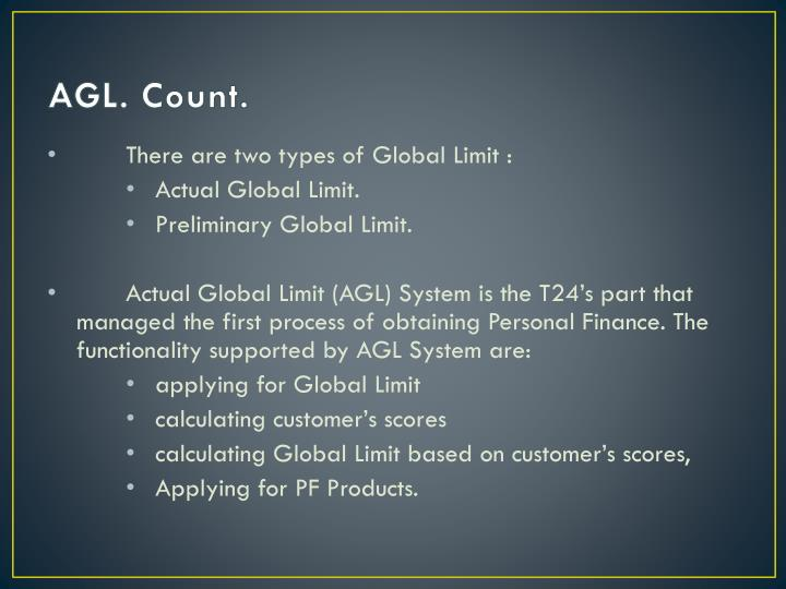 AGL. Count.