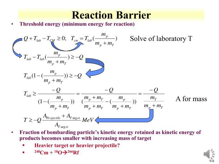 Reaction Barrier
