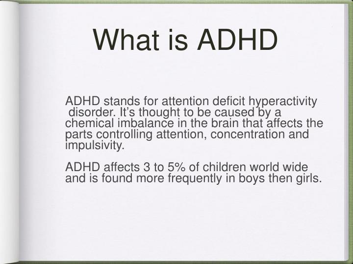 adhd chemical imbalance
