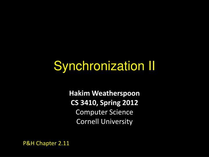 synchronization ii n.