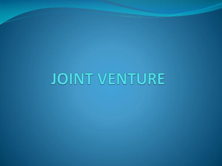 joint venture n.