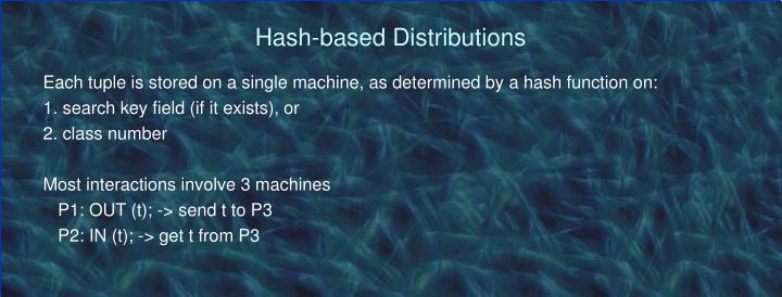 Hash-based Distributions