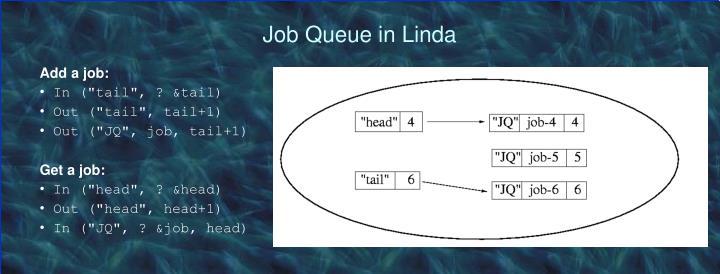 Job Queue in Linda