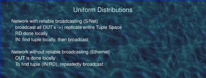 Uniform Distributions