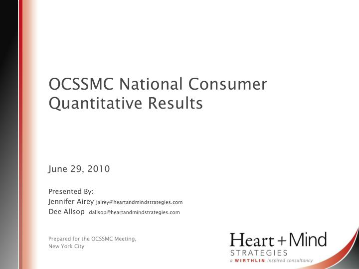 ocssmc national consumer quantitative results n.