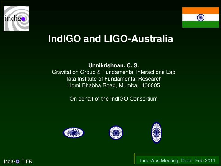 IndIGO and LIGO-Australia