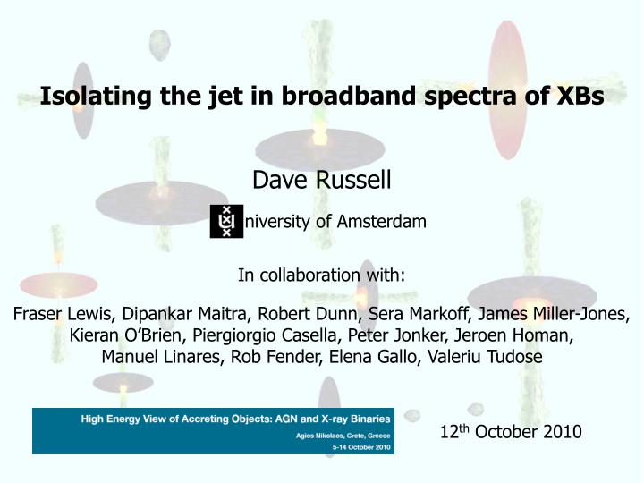 Isolating the jet in broadband spectra of XBs