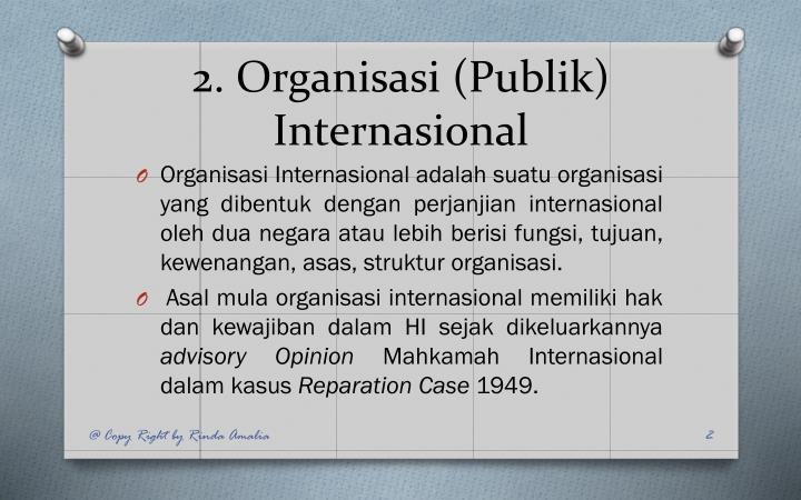 2 organisasi publik internasional