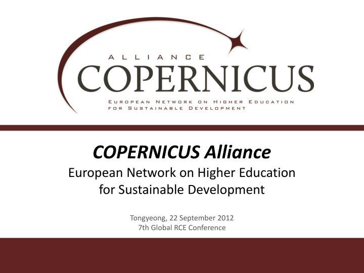 copernicus alliance european network on higher education for sustainable development n.