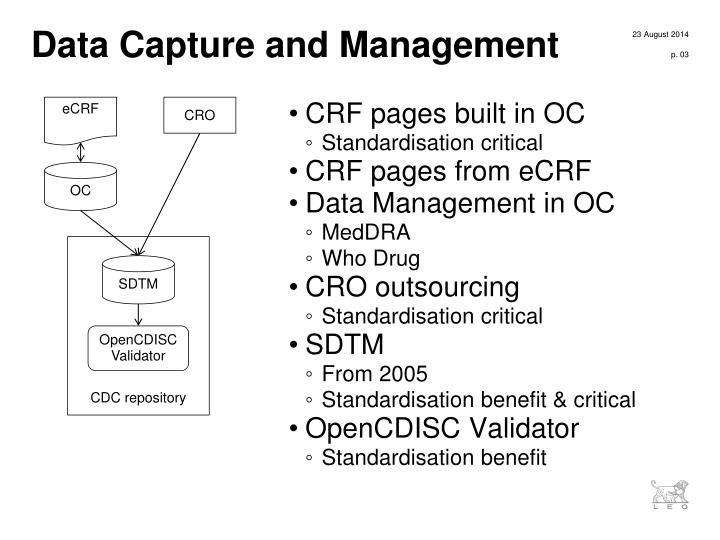 Data capture and management