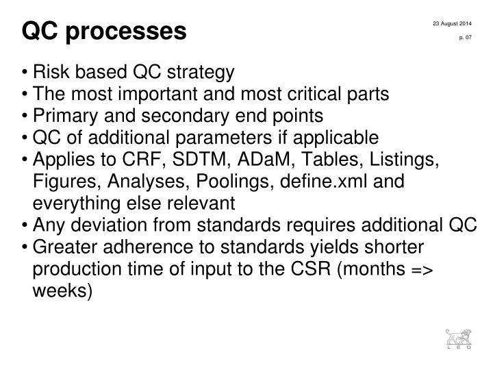 QC processes