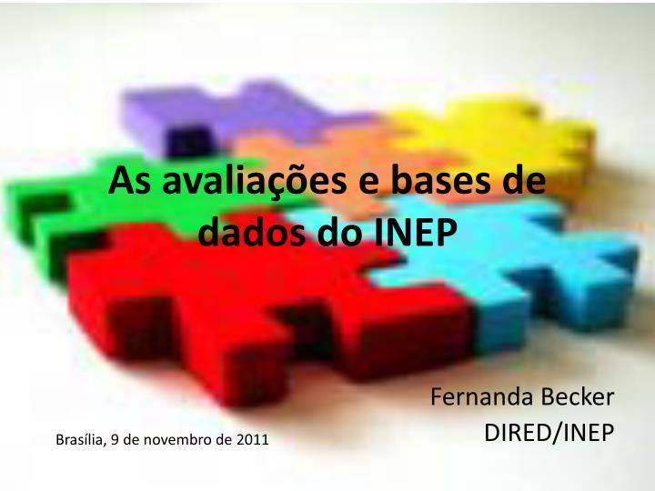 as avalia es e bases de dados do inep n.