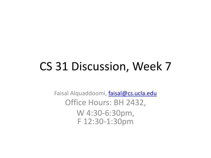 cs 31 discussion week 7 n.
