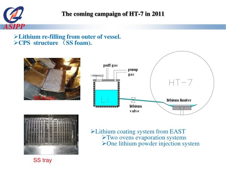 The coming campaign of HT-7 in 2011